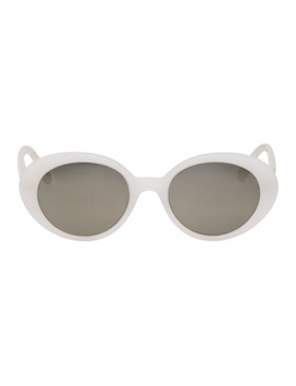 White Parquet Sunglasses by The Row