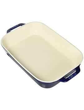 Staub 40508 594 Ceramics Rectangular Baking Dish, 13x9 Inch, Dark Blue by Staub