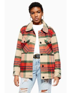 Check Shacket With Wool by Topshop