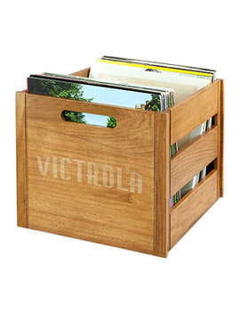 Victrola Wooden Record Crate by Innovative Technology