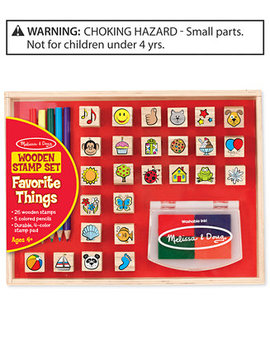 Melissa & Doug Kids' Favorite Things Wooden Stamp Set by Melissa And Doug