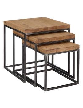 John Lewis & Partners Calia Nest Of 3 Tables, Oak by John Lewis & Partners