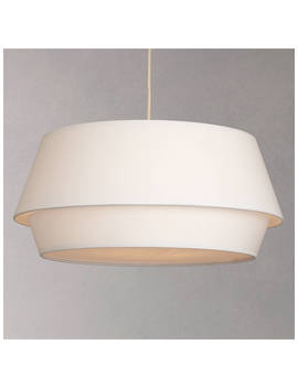House By John Lewis Lisbeth Easy To Fit Ceiling Shade, White by House By John Lewis