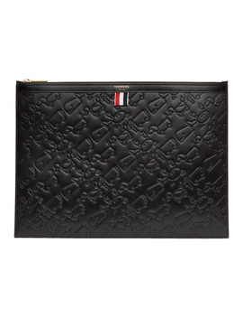 Black Large Toy Icon Laptop Holder by Thom Browne