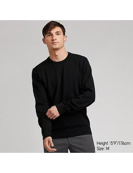 Supima Cotton Crew Neck Long Sleeved Jumper by Uniqlo