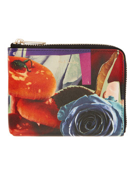 Multicolor Rose Collage Wallet by Paul Smith