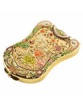 Jinvun Antique Like Gold Peacock Compact Mirror: Durable Travel Purse Makeup Mirror With Luxury Vintage... by Jinvun
