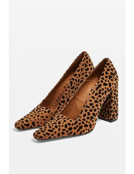 Geena Block Heel Court Shoes by Topshop
