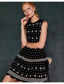 Star Jacquard Knit Dress by Ted Baker