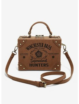 Supernatural Hunters Brown Suitcase Bag by Hot Topic