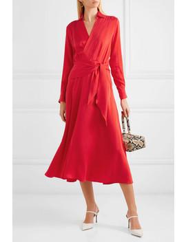 Vivienne Wrap Effect Silk Blend Dress by Equipment