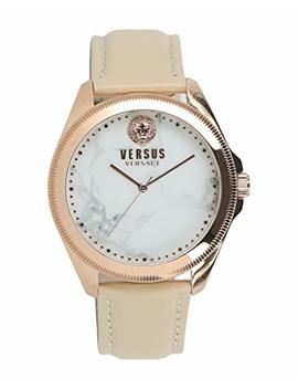 Versus By Versace Women's 'elmont' Quartz Gold And Leather Fashion Watch, Color:Beige (Model: Vspbe1218) by Versus By Versace