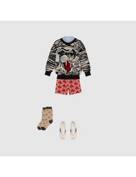 Children's Panther Wool Sweater by Gucci