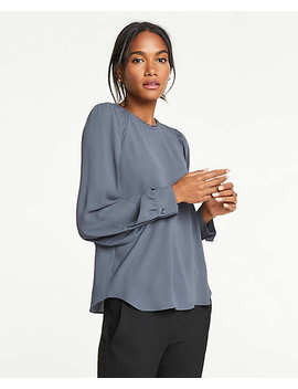 Smocked Shoulder Scalloped Top by Ann Taylor