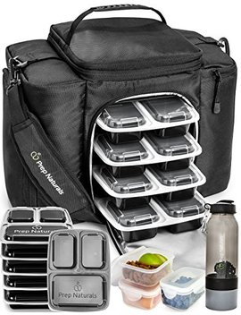 Meal Prep Bag Meal Prep Containers 3 Compartment (10 X 32oz) Meal Prep Lunch Box   Insulated Lunch Bag Backpack Cooler Lunchbox   Lunch Boxes For Adults Best Lunch Bags Cooler Bags Lunch Bag For Men by Prep Naturals