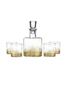 Luster Gold 5 Piece Whiskey Set by Jay Imports