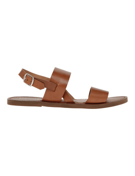 Leilani Tan Leather Sandal by Piper