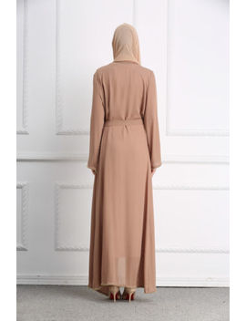Muslim Maxi Dress Open Abaya Beading Long Robe Gowns Cardigan Arab Dubai Thobe by Ebay Seller