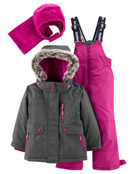 oshkosh-bgosh ---- ----2-piece-fleece-lined-snowsuit-with-bonus-hat-&-neck-warmer by oshkosh