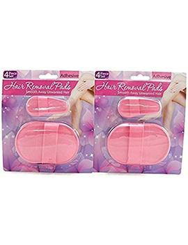 Hair Removal Pads 4 Piece Set (2 Pack) by An American Company