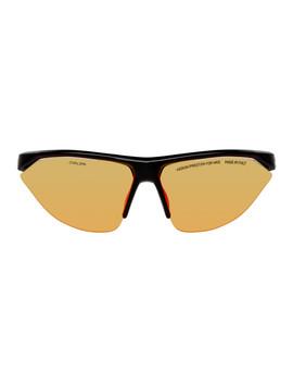 Black Nike Edition Tailwind Sunglasses by Heron Preston