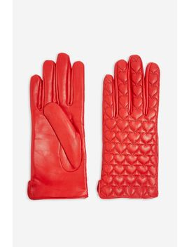 Heart Quilted Touchscreen Gloves by Topshop