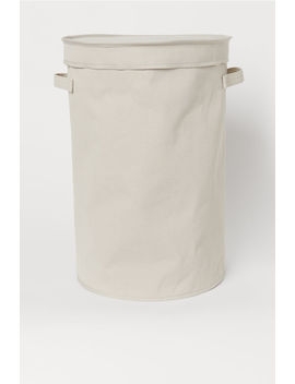 Canvas Laundry Basket by H&M