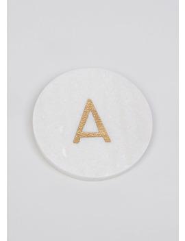 Marble Alphabet Coaster (10cm) by Matalan