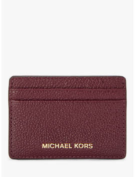 Michael Michael Kors Money Pieces Leather Card Holder, Oxblood by Michael Kors