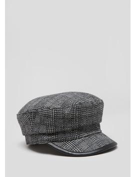 Check Baker Boy Hat by Matalan