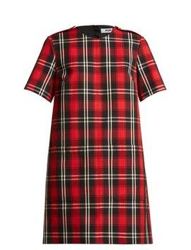 Tartan Twill Dress by Msgm
