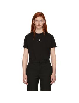Black Crystal Mini Star T Shirt by Stella Mccartney