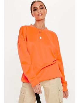 Neon Orange Oversized Sweatshirt by Missguided