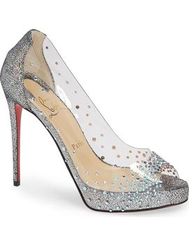 Very Strass Embellished Peep Toe Pump by Christian Louboutin