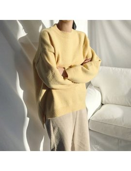 Lemon Sweaters For Women / Chunky Sweater / Women Loose Sweater / Loose Fitting Women Sweaters / Oversized Sweater / Gift For Her by Etsy