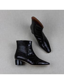 Loq Matea Croc Boots   Negro by Garmentory