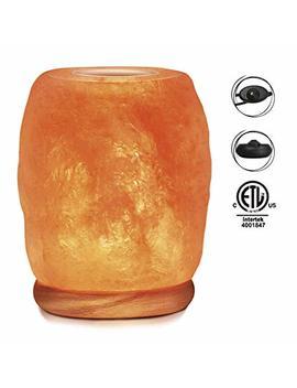 Himalayan Glow 942 Bc Natural Aroma Therapy Salt Lamp With Neem Wooden Base And Salt Light Bulbs, 4 5 Lbs. by Himalayan Glow