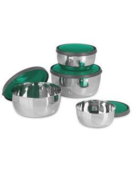Gourme Tmaxx 4 Piece Stainless Steel Bowl Set by Argos