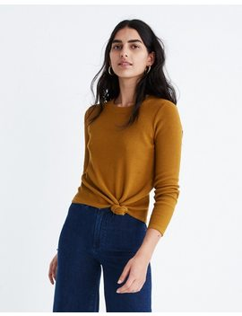 Texture & Thread Jacquard Knot Front Top by Madewell