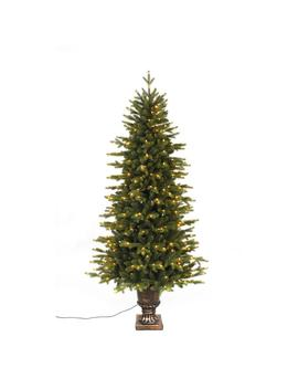6 Ft. Pre Lit Led Aspen Fir Potted Artificial Christmas Tree With 350 Warm White Lights by Home Accents Holiday