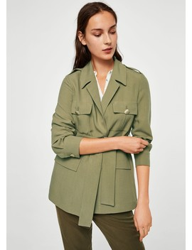 Jachetă Soft Cu Buzunare by Mango
