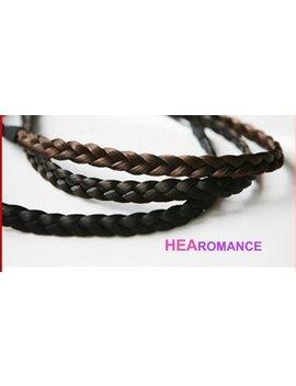 Hair Headband   Black Or Brown Flat Elastic Braided Faux Hair Headband by Etsy