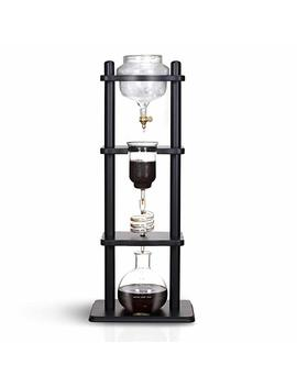 Yama Glass 6 8 Cup Cold Drip Maker Straight Black Wood by Amazon