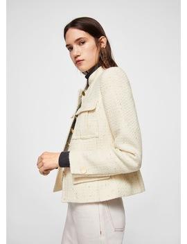 Jachetă Cu Textură și Nasturi by Mango
