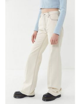 Bdg Stovepipe High Rise Wide Leg Jean – Ivory by Bdg