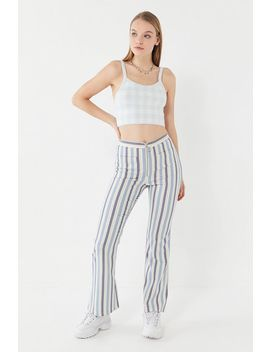 Uo Cass Zip Front Flare Pant by Urban Outfitters