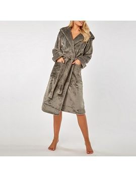 Dorothy Perkins   Grey Clipped Sparkle Hood Robe by Dorothy Perkins