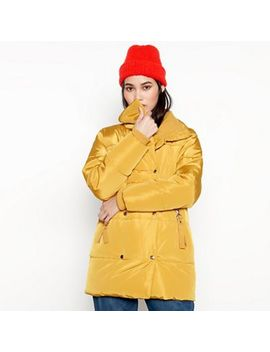 Red Herring   Mustard Yellow Puffer Coat by Red Herring
