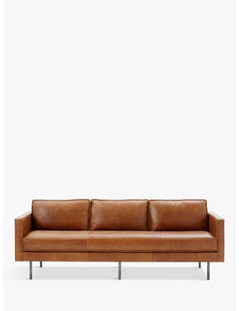West Elm Axel Large 3 Seater Sofa, Sienna Leather by West Elm