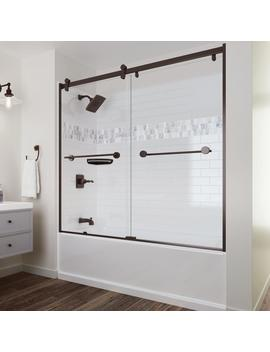 U Pstile 32 In. X 60 In. X 60 In. 3 Piece Direct To Stud Alcove Tub Surround With Customizable Design In White by Delta